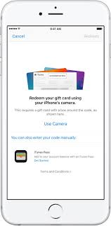 upon redeeming an apple gift card you re given the choice between topping up your itunes credit or using the code toward an individual apple