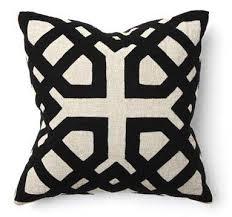 villa home pillows. Simple Pillows Khwai Applique Black 18 Throughout Villa Home Pillows O