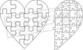 Puzzle Piece Template Gorgeous Heart Jigsaw Puzzle Template Collection DXF EPS SVG Zip File Etsy