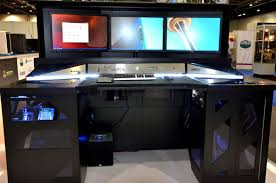 custom built gaming computer desk