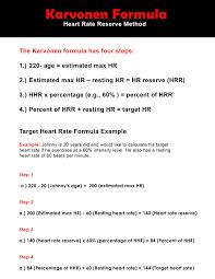 karvonen formula chart um 17 by 11