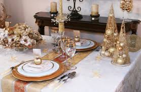 Gold Christmas Table Decoration Ideas Gold And Silver Centerpieces  Decorations