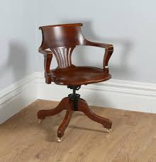victorian office chair. Victorian Oak Revolving Office Desk Chair C.1890