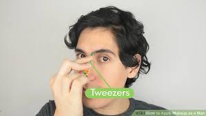 image led apply makeup as a man step 12
