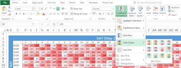 heatmap in excel creating a heat map with excel