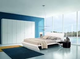 Modern Blue Bedroom Bedroom Fair Modern Blue And Cream Bedroom Decoration Using