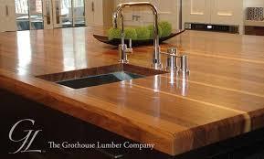 custom walnut wood custom wood countertops with tile countertops