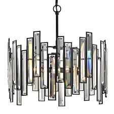 fifth and main lighting madison 18 in 3 light aged bronze chandelier with crystal prisms