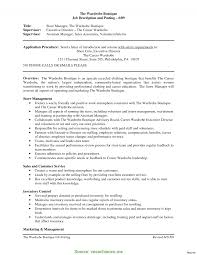 Complex Fashion Retail Store Manager Job Description Job Resume 33