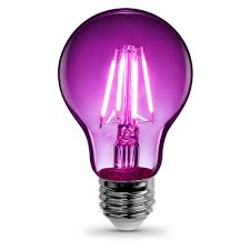 feit electric 3 6 watt purple a19 filament led light bulb case of 12
