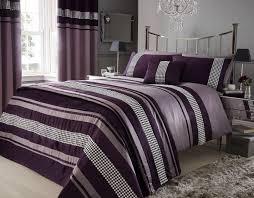 plum and beige bedding aubergine purple colour stylish lace diamante duvet cover luxury on cozy color
