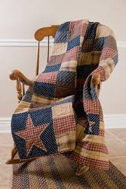 Country Primitive Americana Decor | ... Patriotic Patch Quilted ... & 3 PC Patriotic Patch Quilted Throw & Pillow Set Primitive Country Americana  in Home & Garden, Bedding, Blankets & Throws Adamdwight.com