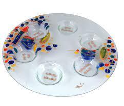 Doris Glass Art: Seder Plate. Jerusalem , Jewish & Israeli Art | Judaica  Web Store