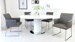 small white dining table chairs set round