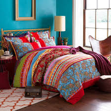 com lelva boho style bedding set bohemian ethnic style bedding set boho duvet cover set camel pattern bedding set queen king 4pcs 1