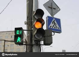 Pedestrian Light Crossing Pedestrian Crossing Yellow Traffic Lights Time Counter