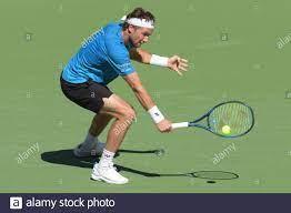 Casper Ruud (NOR) wird von Diego Schwartzman (ARG) besiegt 3-6, 3-6, bei  den BNP Paribas Open, die am 13. Oktober 2021 im Indian Wells Tennis Garden  in Indian Wells, Kalifornien, gespielt wird: ©