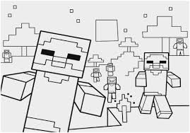 Coloriage Minecraft Wither