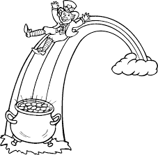Small Picture leprechaun coloring pages free Leprechaun pot of gold coloring