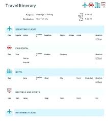 Trip Schedule Template Business Trip Schedule Template Sample Business Travel Itinerary