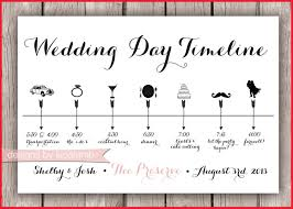 Wedding Timeline Template Free Brochure Templates Day