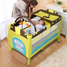 green baby furniture. New Green Baby Crib Playpen Playard Pack Travel Infant Bassinet Bed Foldable Furniture
