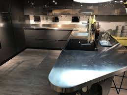view in gallery scavolini kitchen design with stainless steel countertop and curved lines view in gallery beautiful