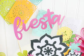 Easy Diy Fiesta Inspired Cake Toppers Treat Bags
