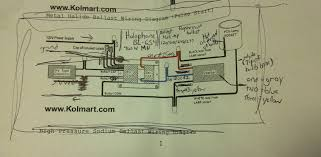 metal halide ballast wiring diagram teamninjaz me 277V Ballast Wiring Diagram at 100 Watt Metal Halide Ballast Wiring Diagram