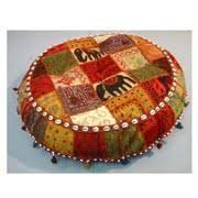 Beautiful Ethnic Floor Cushions Rajasthan Art Inside Decor