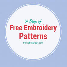 Free Hand Embroidery Patterns Amazing A Lively Hope 48 Days Of Free Hand Embroidery Patterns