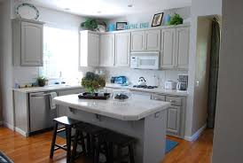 Painted Kitchen Cabinets With White Appliances Grey Kitchen Grey