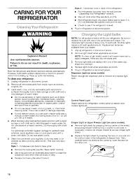 How To Level A Kenmore Refrigerator Caring For Your Refrigerator Cleaning Fmir Refrigerator To