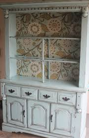 ideas china hutch decor pinterest: teal distressed amp aged vintage open front china hutch for mindy