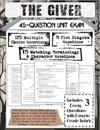 the giver novel test teaching resources teachers pay teachers  the giver novel study final test 45 questions plus bonus essay questions