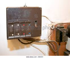 old fuses fuse box stock photos old fuses fuse box stock images domestic electric fuse box in unsafe condition wales uk stock image