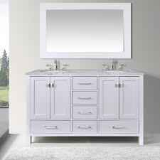 double sink bathroom vanity cabinets white. 60-inch malibu pure white double sink bathroom vanity cabinet with 59-inch mirror cabinets