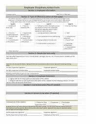 Employee Disciplinary Action Form With Checklist Business
