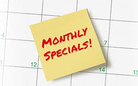 Image result for monthly specials