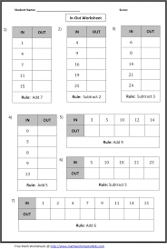 Kindergarten In Out Boxes Worksheets: Include Addition ...