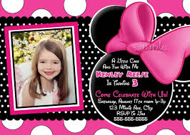 Free Minnie Mouse Birthday Invitations Free Printable Baby Minnie Mouse Birthday Invitations