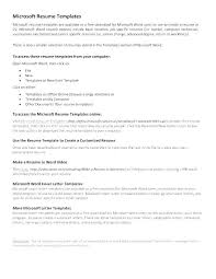 Cover Letter For Microsoft Sample Resume Word Format Document Good Templates For Free