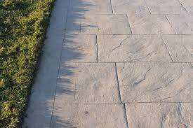 stamped concrete boosts curb appeal