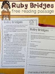 Free reading comprehension passage: A Ruby Bridges worksheet ...