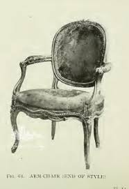 armchair drawing. chair inspired by louis xv with oval frame, armchair drawing