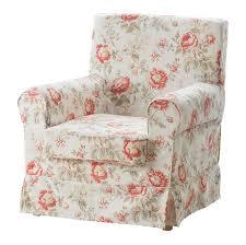 ikea rp jennylund armchair slipcover chair cover byvik multi fl rose peony romantic