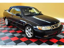 2002 Midnight Blue Metallic Saab 9-3 SE Convertible #14843530 ...