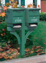 double mailbox post. Designer Double Mailbox Post