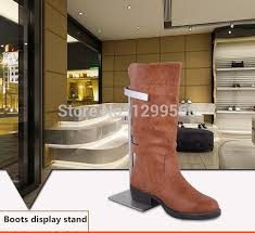 Footwear Display Stands 100pcs Free shipping stainless steel boots display stand adjustable 99