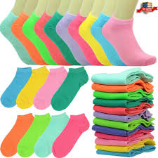 6-<b>12 Pairs</b> Fashion Cotton <b>Women</b> Girls Ankle School Casual Socks ...